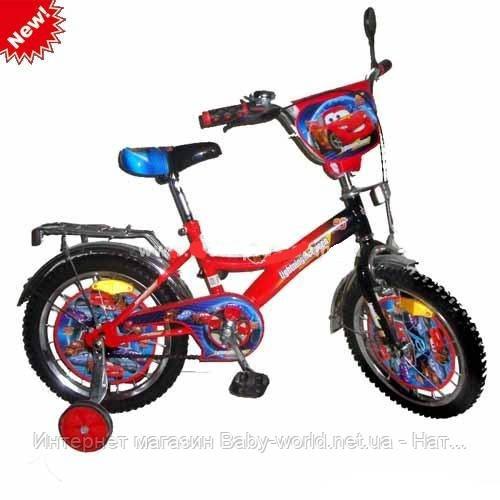 """Детский велосипед Mustang Тачки 18"""" - Интернет магазин Baby-world.net.ua - Натуральные камни, Радиоуправляемые игрушки, Автозапчасти в Одессе"""