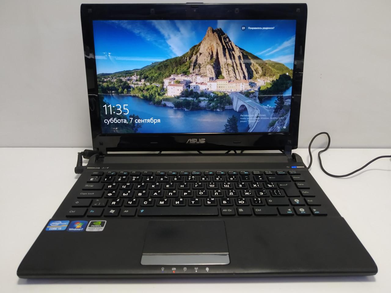 Ультрабук Asus U36SD \ Intel i5-2410M 2.3-2.9 \ 8 ГБ DDR3 \ 120(240) ГБ SSD\ Батарея до 5-8 часов\ GT 520 1 gb