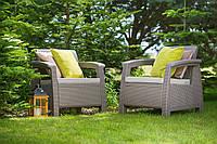 Набор садовой мебели Corfu Duo Set Cappuccino ( капучино ) из искусственного ротанга, фото 1
