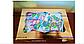 Картонная коробка для подарков  с окошком золотая 25*17*8 см, фото 5