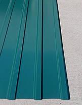 Профнастил для забору, колір:зелений ПС-20, товщина 0,45 мм; висота 1.5 метра ширина 1,16 м, фото 3