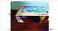 Картонная коробка для подарков  с окошком золотая 25*17*8 см, фото 3