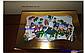 Картонная коробка для подарков  с окошком золотая 25*17*8 см, фото 2