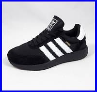 Кроссовки Мужские Adidas Iniki Runner Boost Чёрные Адидас (размеры: 41,42,43,44,45) Видео Обзор