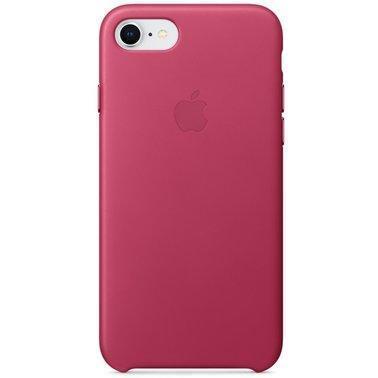 Кожаный чехол Apple Leather Case Pink Fuchsia для iPhone 7 / 8