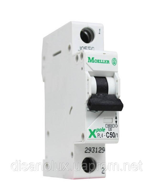 Автоматический  выключатель  PL4-C50/1  50А MOELLER (EATON)