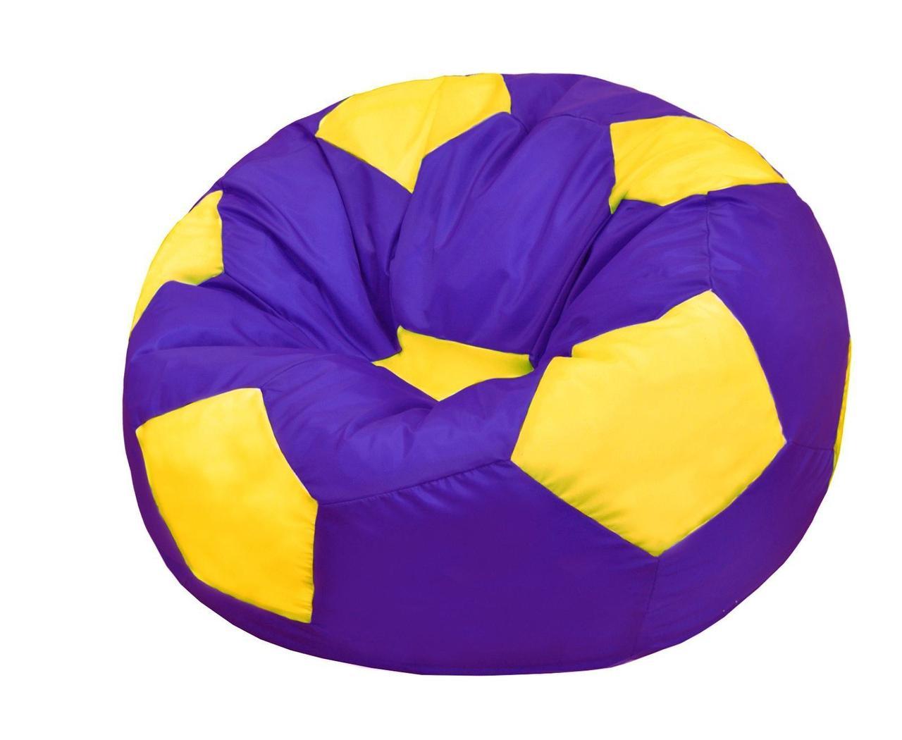 Пуф-мешок Мяч БМО6 фиолетово-желтый (оксфорд)  110х110см.