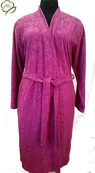 Махровый женский халат 100% Хлопок,Турция
