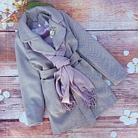 """Весеннее кашемировое пальто с шарфом  """"Марта"""", фото 1"""