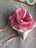 Свадебная подушка для колец с розовым цветком hand made, фото 7