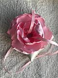 Свадебная подушка для колец с розовым цветком hand made, фото 8
