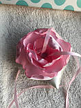Свадебная подушка для колец с розовым цветком hand made, фото 9