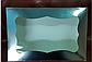 Картонная коробка для подарков с окошком серебро 25*17*8 см, фото 2