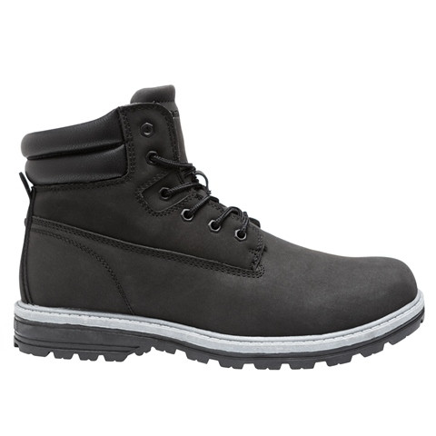 Ботинки мужские Restime зимние чёрные, нубук