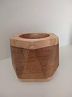 Дерев'яне кашпо геометричної форми, фото 1
