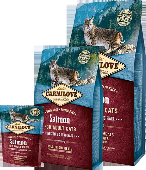 Сухий корм Carnilove Cat Sensitive & Long Hair Salmon (для кішок з чутливим травленням, лосось)