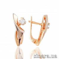 Золотые серьги с бриллиантами 7036