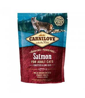 Сухий корм Carnilove Cat Sensitive & Long Hair Salmon (для кішок з чутливим травленням, лосось), фото 2