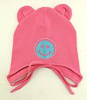 Оптом шапки 46 48 50 размер трикотажная детская шапка головные уборы детские опт, фото 1