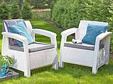 Набор садовой мебели Corfu Duo Set White ( белый ) из искусственного ротанга ( Allibert by Keter ), фото 9