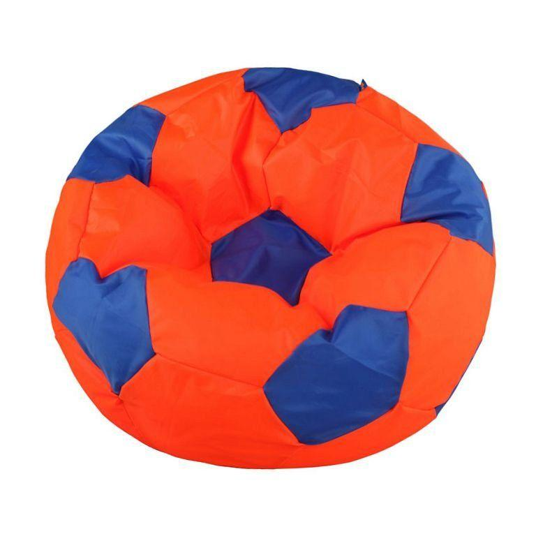 Пуф-мешок Мяч БМО6  оранжево-синий (оксфорд) 110х110 см.