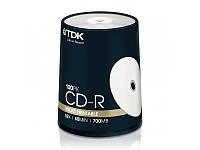 Диск TDK CD-R 700Mb 52x Cake 100 pcs Printable