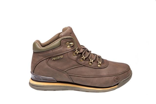 Зимние ботинки мужские Restime коричневые, нубук