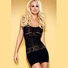 Облегающее  мини платье черное Obsessive D307 Польша, фото 2