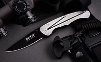 Нож складной с металлической рукояткой, стильный, городской, с однопозиционной стальной клипсой, практичный, фото 1