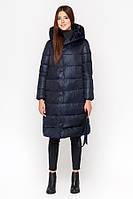Киро Токао | Женская длинная куртка зимняя синяя