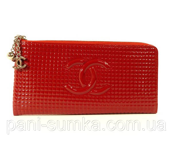 Кошелек женский кожаный на молнии Chanel 40314 красный лаковый, расцветки в  наличии - Интернет магазин 95c6140e44e