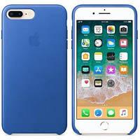 Кожаный чехол Apple Leather Case Electric Blue для iPhone 7 Plus/8 Plus (high copy)
