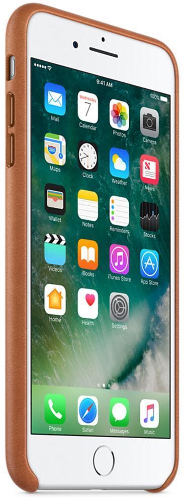 Кожаный чехол Apple Leather Case Saddle Brown для iPhone 7 Plus / 8 Plus (high copy)
