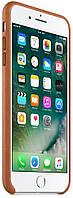 Кожаный чехол Apple Leather Case Saddle Brown для iPhone 7 Plus/8 Plus (high copy)