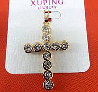 Бижутерия интернет магазин. Позолоченные кресты, ладанки оптом Xuping. 242