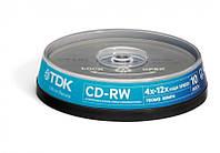 Диск TDK CD-RW 700Mb 4-12x Cake 10 pcs