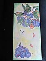 Картина декорована в технике декупаж, 31,5х14,5 см, 105\90 (цена за 1 шт.+15 грн)