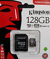 Карта памяти микро SDXC Kingston 128 гб класс 10 UHS-1 с адаптером