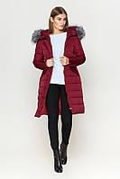 Киро Токао | Женская длинная куртка зимняя бордовая
