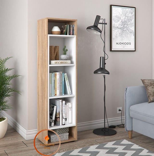 Полиця для книг, стелаж для будинку вертикальний. ДСП. P0004