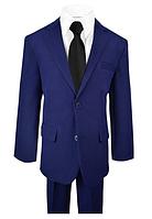 Синий школьный костюм пятёрка с галстуком