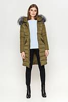 Киро Токао | Женская длинная куртка зимняя хаки