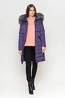Киро Токао | Женская длинная куртка зимняя фиолетовая