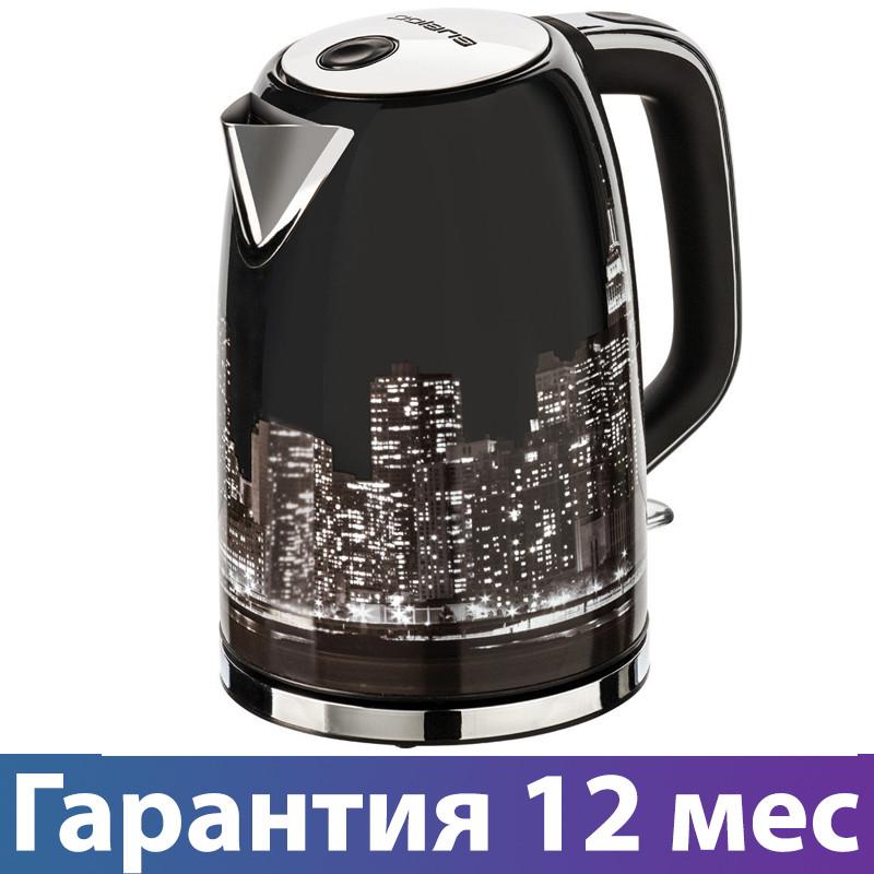 Электрочайник Polaris PWK 1762CA, 2200 Вт, 1.7 л, металлический, чайник электрический, електрочайник