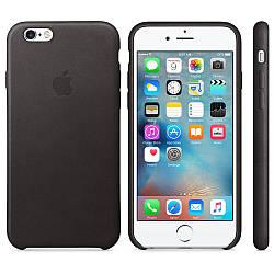 Кожаный чехол Apple Leather Case Black для iPhone 6 / 6s (high copy)