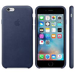 Кожаный чехол Apple Leather Case Midnight Blue для iPhone 6 / 6s (high copy)