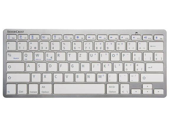 Клавиатура Bluetooth На Батарейках SILVERCREST® Bluetooth Keyboard SBT 3.0 A1 Gray, фото 2