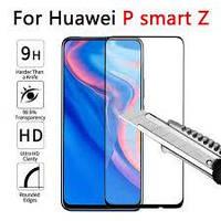 Защитное стекло для Huawei P Smart Z (STK-LX1) Хуавей клеится по всей поверхности черное 2.5D Full Glue