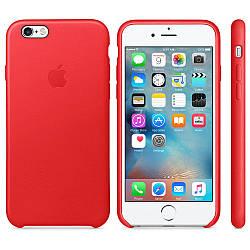 Кожаный чехол Apple Leather Case (PRODUCT) RED для iPhone 6 / 6s (high copy)