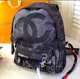 Рюкзак графіті брендовий, тканинний
